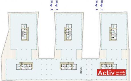 The Office birouri de închiriat Cluj-Napoca plan