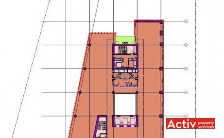 GLOBALWORTH PLAZA spațiu de birouri metrou Aurel Vlaicu, plan