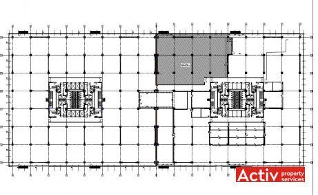UPGROUND închirieri spații birouri București metrou plan general