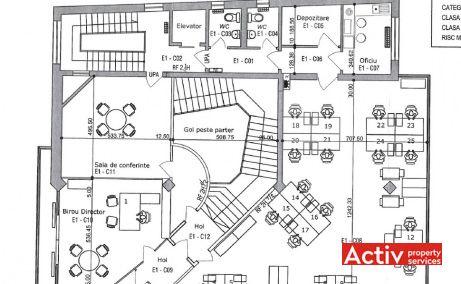 ROMANITZA OFFICE BUILDING închiriere birouri zonă centrală, plan general