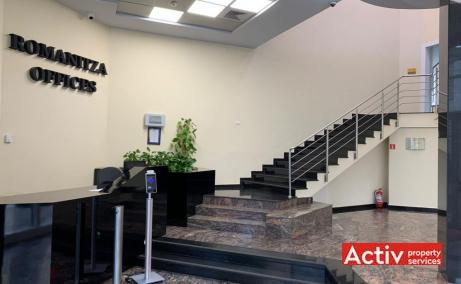 ROMANITZA OFFICE BUILDING închirieri spații birouri București central imagine receptie