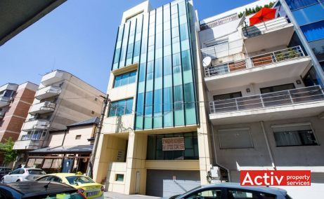 PUȚUL LUI ZAMFIR 5 birou de închiriat Bucuresti piața Dorobanților detaliu de fațadă