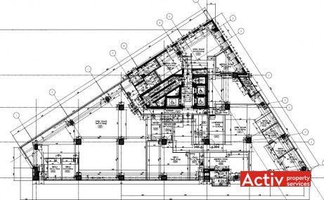 Dorobanți 239 birou de închiriat București nord, plan general