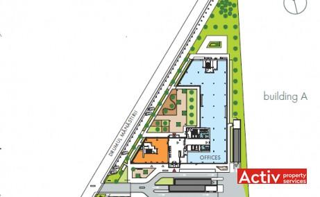 Floreasca Park spații birouri Barbu Văcărescu, plan general