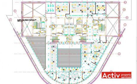 CHARLES DE GAULLE PLAZA birouri de închiriat nord AVIATORILOR plan etaj