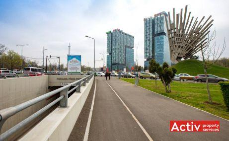 CITY GATE închiriere birouri zona nord imagine pasaj Piața Presei