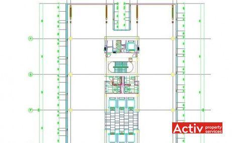 CITY GATE spațiu de birouri Romexpo plan etaj