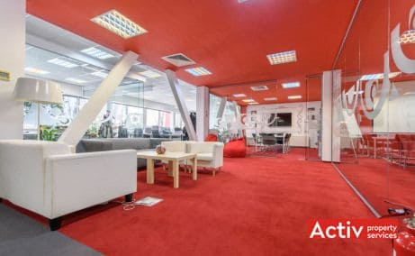 DOMENII OFFICE BUILDING spații birouri zona nord vedere interior open space
