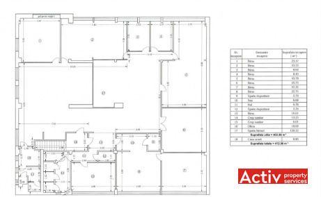DOMENII OFFICE BUILDING spații birouri ieftine nord plan etaj