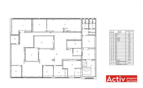 DOMENII OFFICE BUILDING birouri de închiriat nord Domenii plan etaj