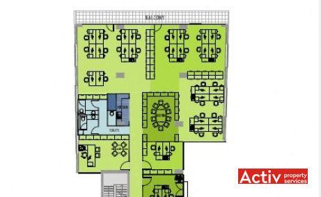 FRUMOASĂ OFFICE BUILDING spații birouri zona centrală plan etaj