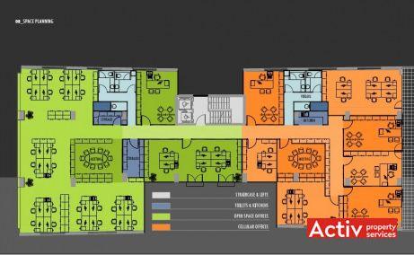 FRUMOASĂ OFFICE BUILDING spațiu de birouri centru București plan general