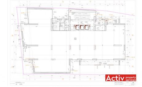 AUREL VLAICU BUSINESS CENTER închiriere birouri centru Piața Romană plan