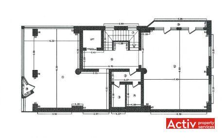 PLEVNEI 202 vânzare spații de birouri Grozăvești clădire plan