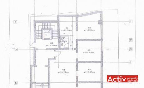 NEGUSTORI OFFICE BUILDING spații birouri zona centru Piața Universității plan