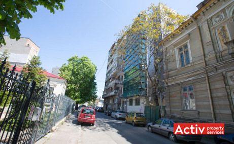 NEGUSTORI OFFICE BUILDING spațiu de birouri centru vedere din strada  Negustori