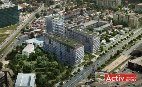 AFI TECH PARK spațiu de birouri zona centrală perspectivă încadrare în zonă