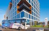 AFI TECH PARK birouri de inchiriat transport shuuttle bus catre Unirii