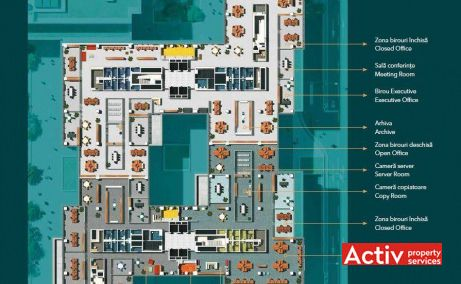METROFFICE spațiu de birouri zona nord Dimitrie Pompeiu, plan general