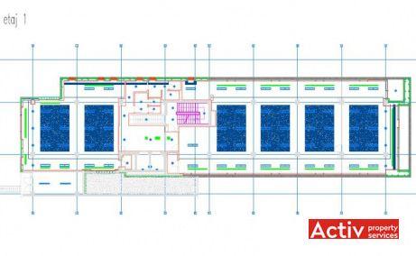 DOROBANTI 33A spații birouri zona centru Piața Romană planul clădirii