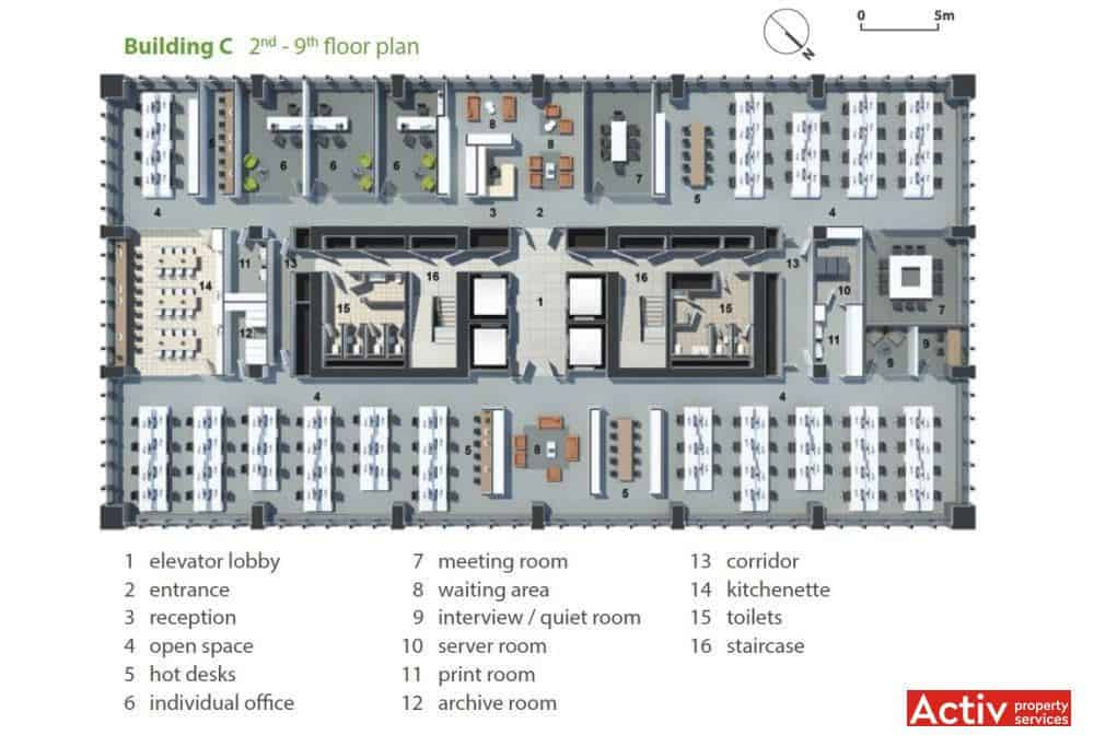 Spa ii de birouri zona groz ve ti business garden bucharest for Construction plan printing
