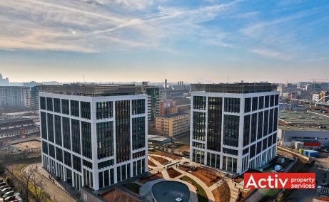 Business Garden Bucharest spații birouri zona centrală proiecție clădiri