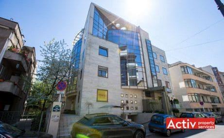 Puskin 10-12 spații birouri nord Primăverii vedere exterioară a clădirii