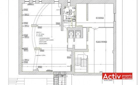Puskin 10-12 închirieri spații birouri nord Piața Charles de Gaulle plan clădire