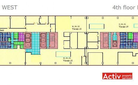 AMERICA HOUSE spații birouri București ultracentral plan clădire
