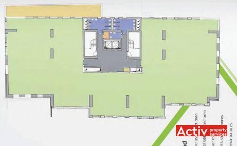 Park Avenue Offices spații birouri nord Piața Charles de Gaulle plan clădire