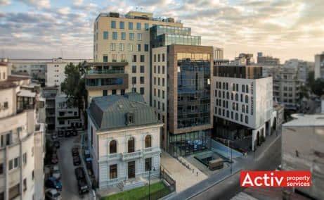 Enescu Office Building spații birouri zona centrală vedere aeriană