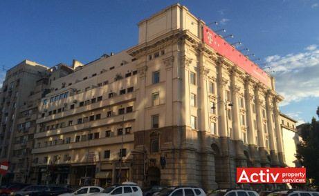 Clădirea de birouri Academiei Center, faţada nordică a clădirii, vedere dinspre P-ţa Revoluţiei.
