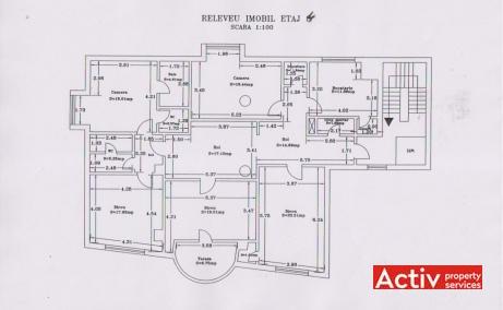 Tudor Vianu 3 birou de închiriat zona nord Calea Dorobanților plan