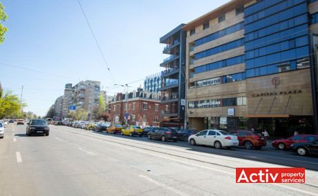 Avantgarde Office Building spații birouri centru vedere către Calea Dorobanților