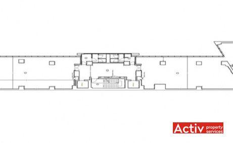 Avantgarde Office Building închiriere spațiu birou București zonă centrală plan