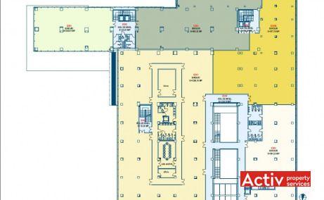 Novis Plaza birou de închiriat zona nord Cluj-Napoca Tetarom I plan