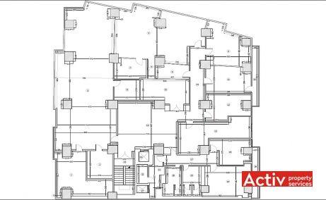 Băneasa Offices birouri mici de închiriat București zona nord plan etaj