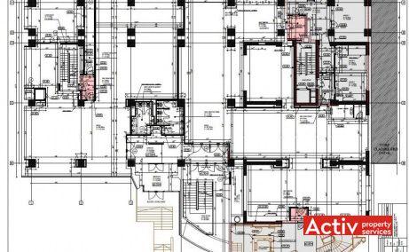 Kogălniceanu Offices birou de închiriat centru Brașov plan detaliat