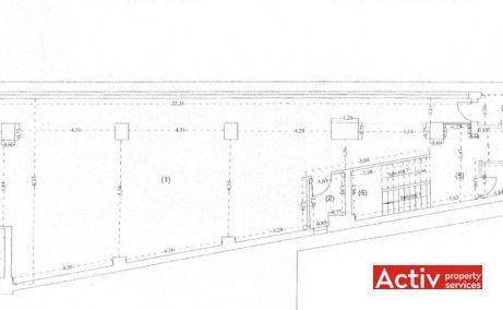 Valiug 32 birouri mici de închiriat București zona nord plan etaj