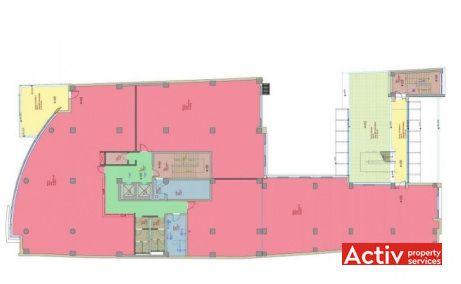 Maestro Business Center birouri de închiriat Cluj-Napoca central plan clădire