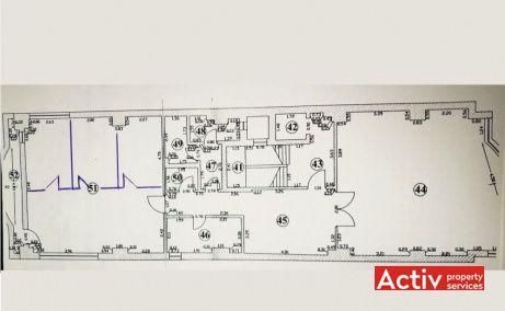Dr. Felix 57 spații de birouri mici zonă centrală Piața Victoriei plan etaj