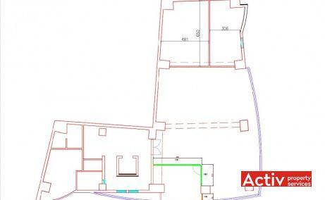 Dr. Felix 17-19 închiriere birouri centru Piața Victoriei plan