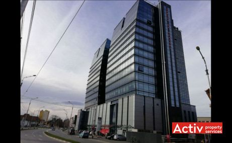 Centrul de Afaceri Sibiu spațiu de birouri Sibiu, vedere din strada Nicolae Olahus