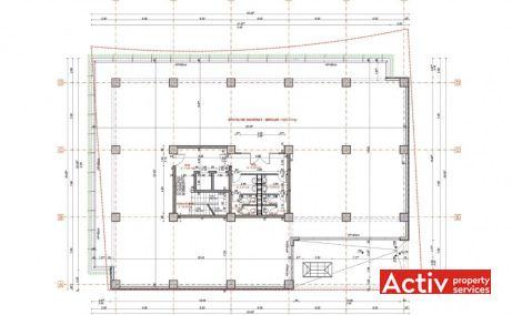 AGN Business Centre închiriere spațiu birou Timișoara zonă centrală plan
