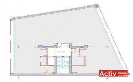 Delea Veche 24 spații birouri mici București centru Calea Călărașilor plan clădire