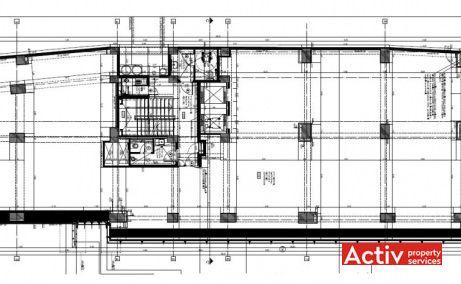 Romană Offices închirieri spații de birouri ultracentral Piața Romană plan clădire