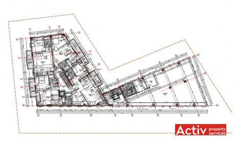 Teodor Mihali Office Building birouri de închiriat Cluj-Napoca plan clădire