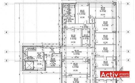 ARNAV birouri de închiriat Cluj-Napoca plan clădire