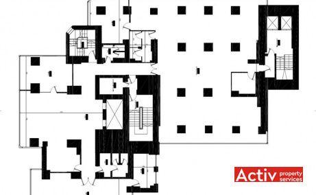 IBC Modern spații de birouri zona centru Piața Universității plan