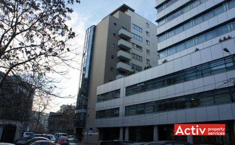 Decebal Tower birouri de închiriat în centru București Piața Alba Iulia vedere laterală